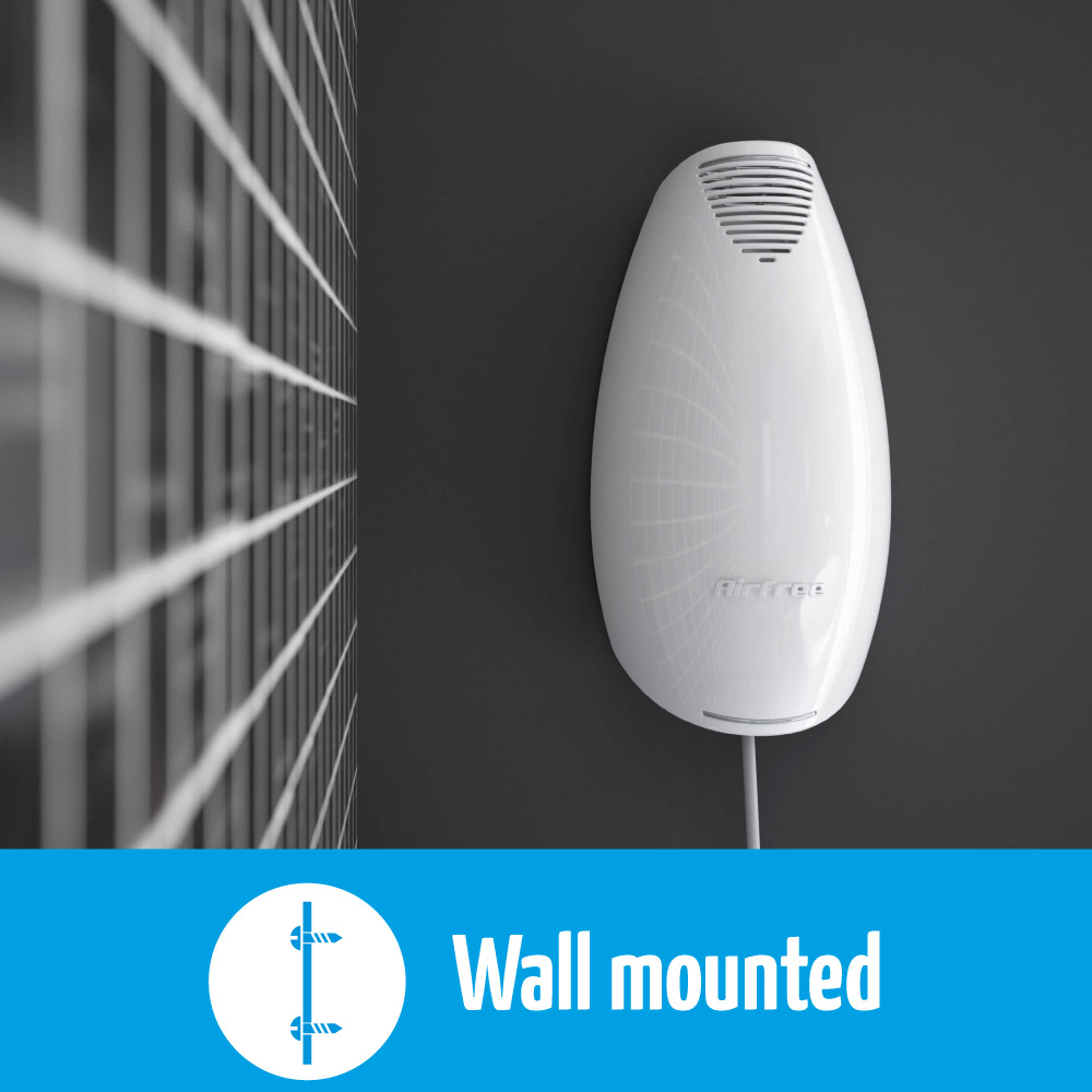 airfree fit has a wall mounted design
